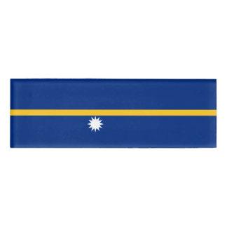 Nauru Flag Name Tag