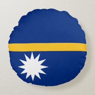 Nauru Flag Round Cushion