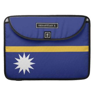 Nauru Flag Sleeves For MacBooks