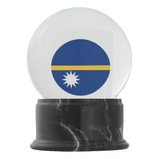Nauru Flag Snow Globe