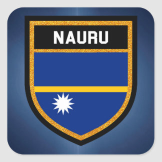 Nauru Flag Square Sticker
