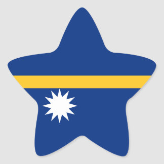 Nauru Flag Star Sticker