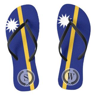 Nauru Flag Thongs