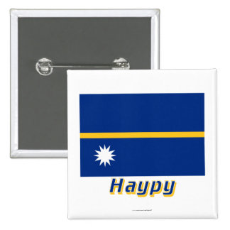 Nauru Flag with name in Russian Buttons