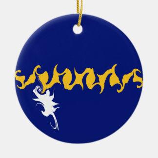 Nauru Gnarly Flag Christmas Ornament
