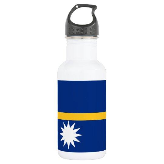 Nauru National World Flag 532 Ml Water Bottle
