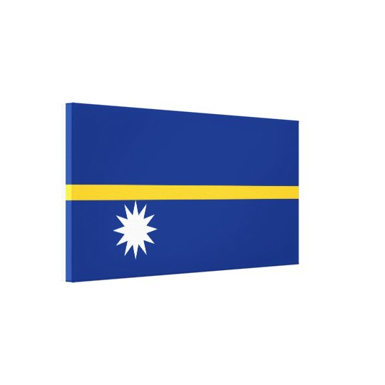 Nauru National World Flag Canvas Print