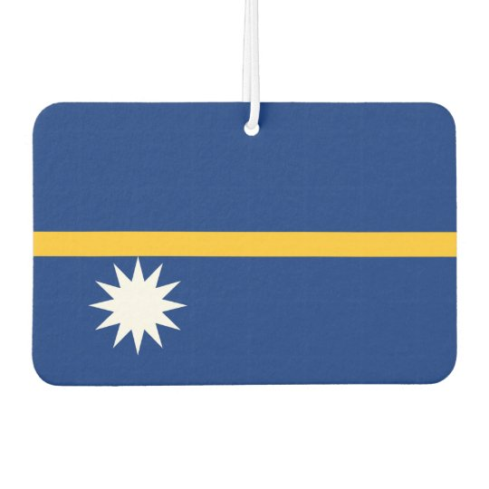 Nauru National World Flag Car Air Freshener