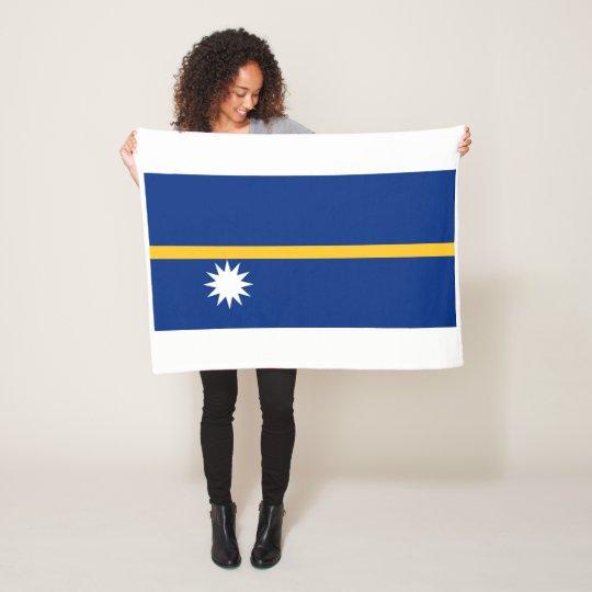 Nauru National World Flag Fleece Blanket