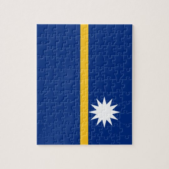 Nauru National World Flag Jigsaw Puzzle