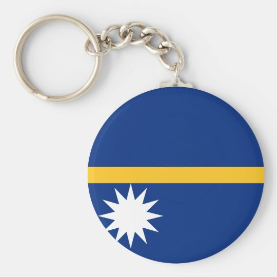 Nauru National World Flag Key Ring