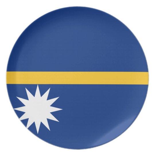 Nauru National World Flag Plate