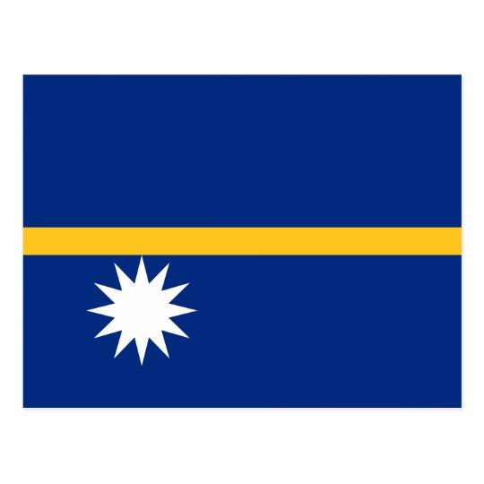 Nauru National World Flag Postcard