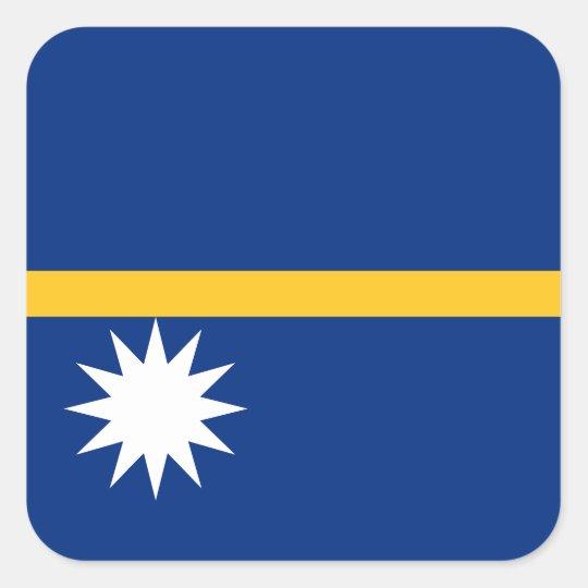 Nauru National World Flag Square Sticker