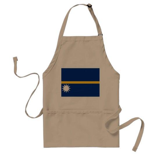 Nauru National World Flag Standard Apron
