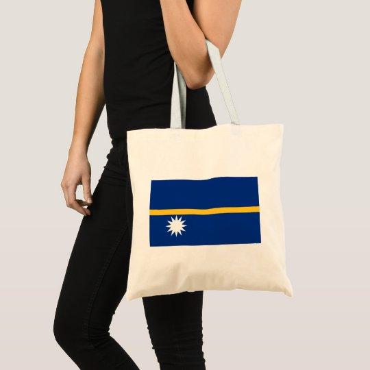Nauru National World Flag Tote Bag