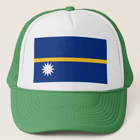 Nauru National World Flag Trucker Hat