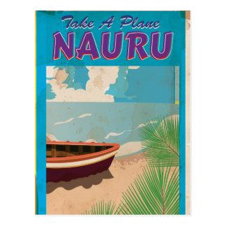 Nauru Vintage Travel Poster Postcard