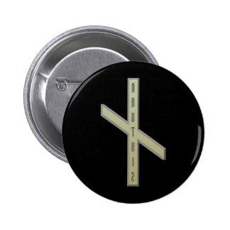 Nauthiz Rune gold 6 Cm Round Badge