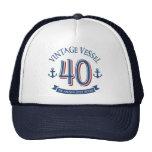 Nautical 40th Birthday Cap