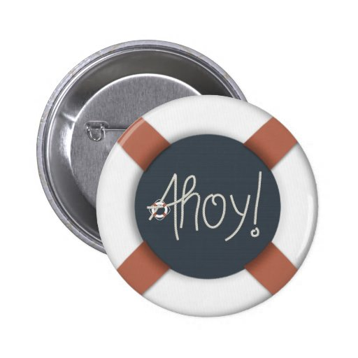 Nautical Ahoy Rope Text & Lifesaver Buttons