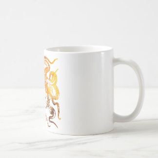Nautical amber octopus coffee mug