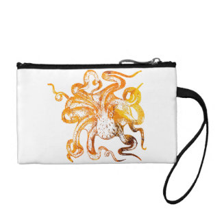 Nautical amber octopus coin wallet