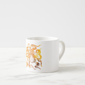 Nautical amber octopus espresso cup