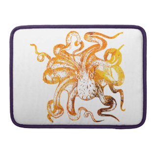 Nautical amber octopus sleeve for MacBooks