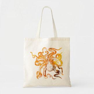 Nautical amber octopus tote bag