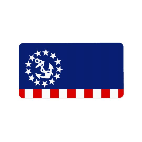 Nautical American Yacht Flag is at the Marina Address Label