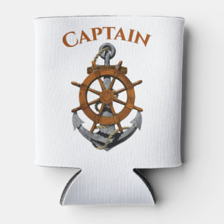 Nautical Anchor And Captain Can Cooler