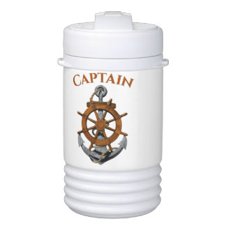 Nautical Anchor And Captain Cooler