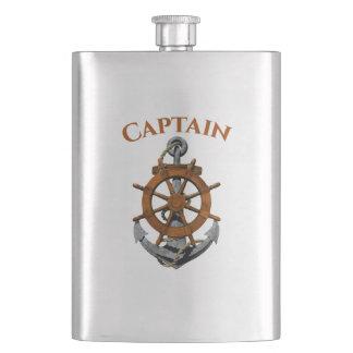 Nautical Anchor And Captain Hip Flask