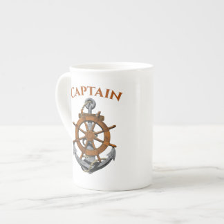 Nautical Anchor And Captain Tea Cup