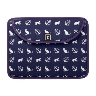 Nautical anchor and cats sleeve for MacBooks