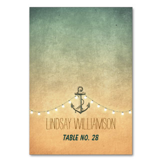 Nautical Anchor and String Lights Place Cards