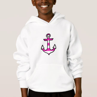 Nautical Anchor and Stripes - Black Pink White