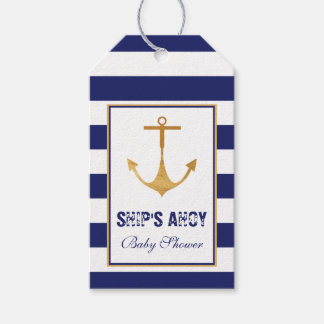 Nautical Anchor Baby Shower Gift Tags