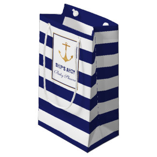 Nautical Anchor Baby Shower Small Gift Bag