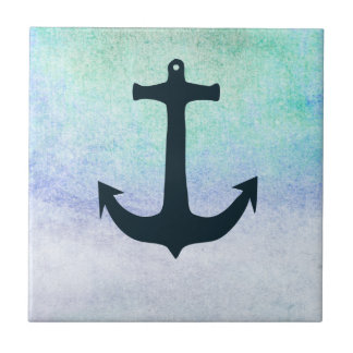 Nautical Anchor Beach Blue Summer vintage Ceramic Tile