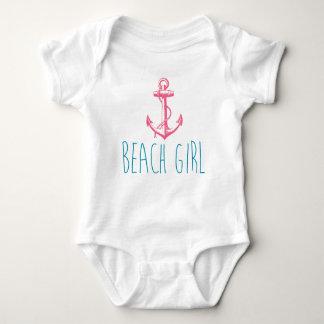 "Nautical Anchor ""Beach Girl"" Baby Bodysuit"