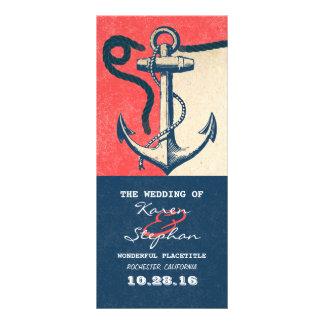 nautical anchor beach wedding programs customised rack card