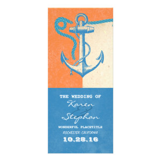 nautical anchor beach wedding programs full color rack card