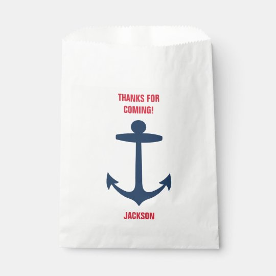 Nautical Anchor Birthday Party Goodie Bags Boy
