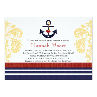 Nautical Anchor Bridal Shower Invitations
