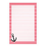 Nautical Anchor; Cadmium Red Stripes; Striped