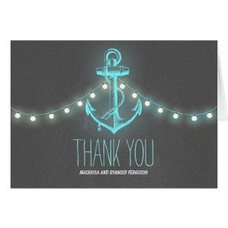 Nautical Anchor Chalkboard Wedding Thank You Card