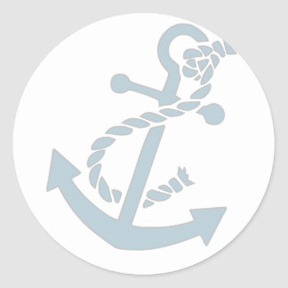 Nautical Anchor Classic Round Sticker