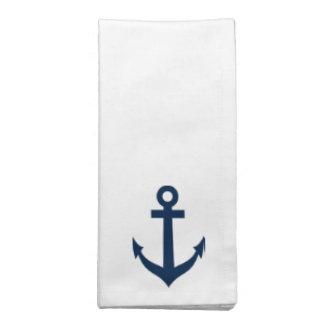 Nautical anchor cloth napkin set | Maritime theme